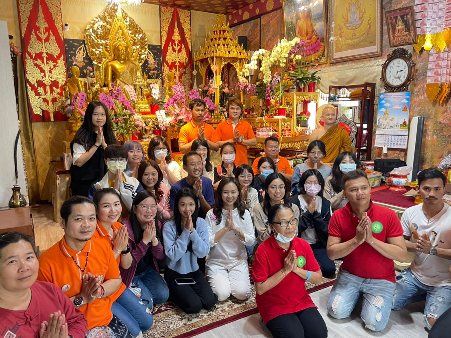 《東南亞宗教》課程帶領學生前往台南「永康泰國寺廟」進行文化交流
